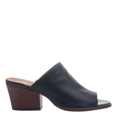 Nicole mule slide Carolina in black side view