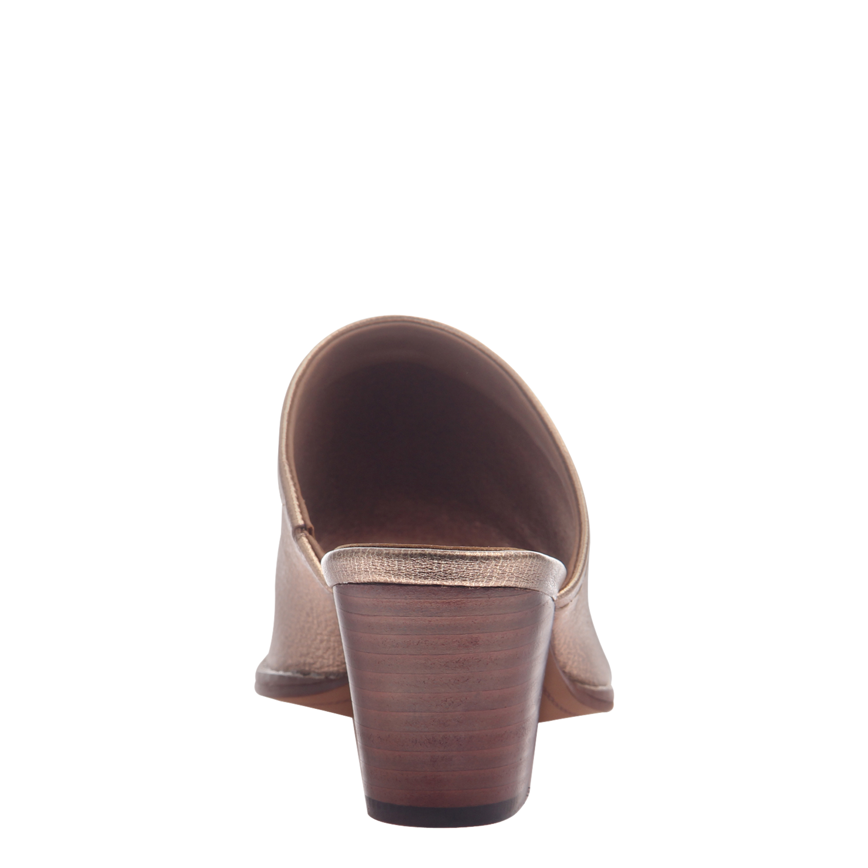 Nicole womens mule slide Carolina in Copper back view