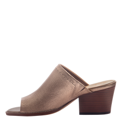 Nicole womens mule slide Carolina in Copper inside view