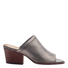Womens mule slide Carolina in Pewter side view