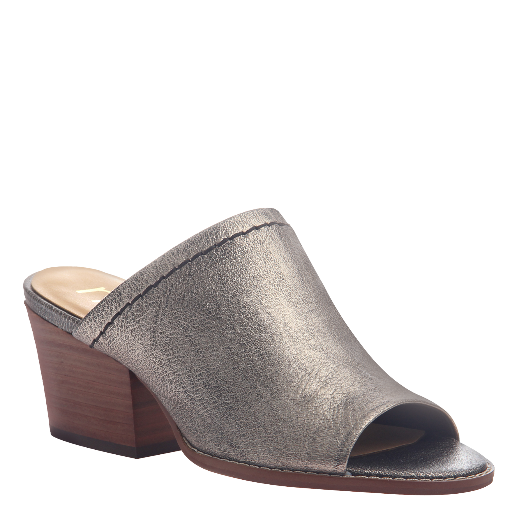 Womens mule slide Carolina in Pewter