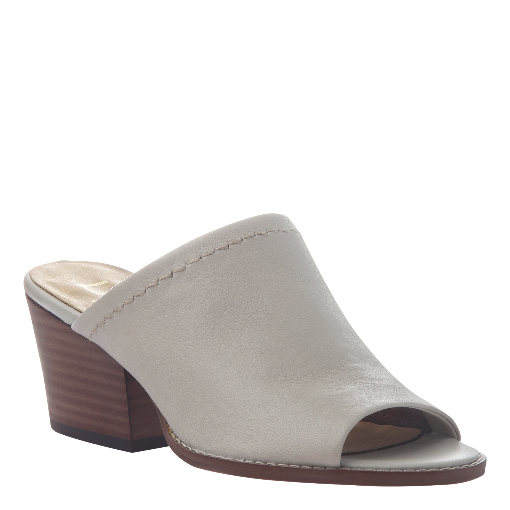 Womens mule slide Carolina in steel