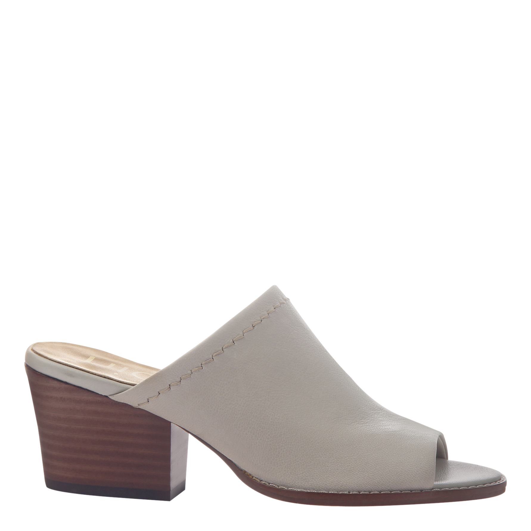 Womens mule slide Carolina in steel side view