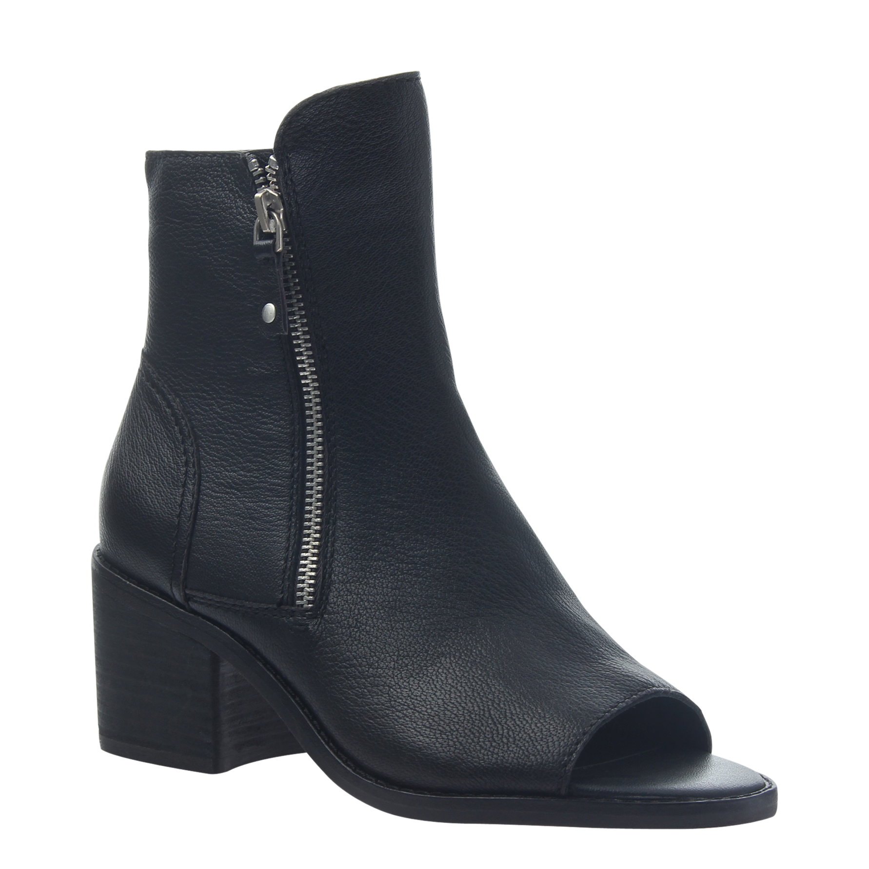 Womens open toe booties Nina in black
