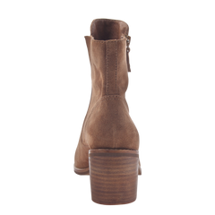 Womens open toe booties Nina in honey back view