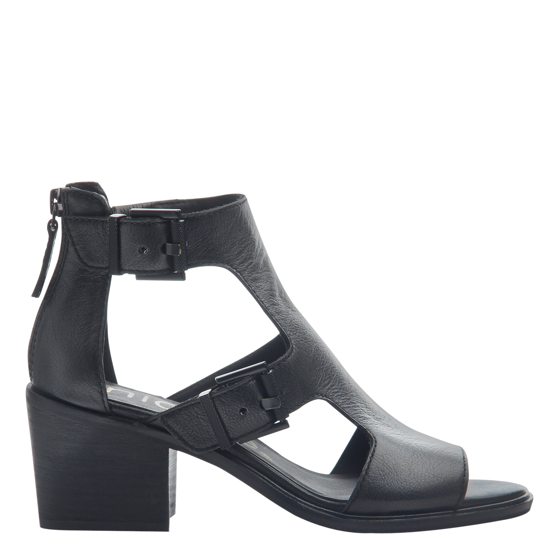 Womens heeled sandals Jahida in black side view