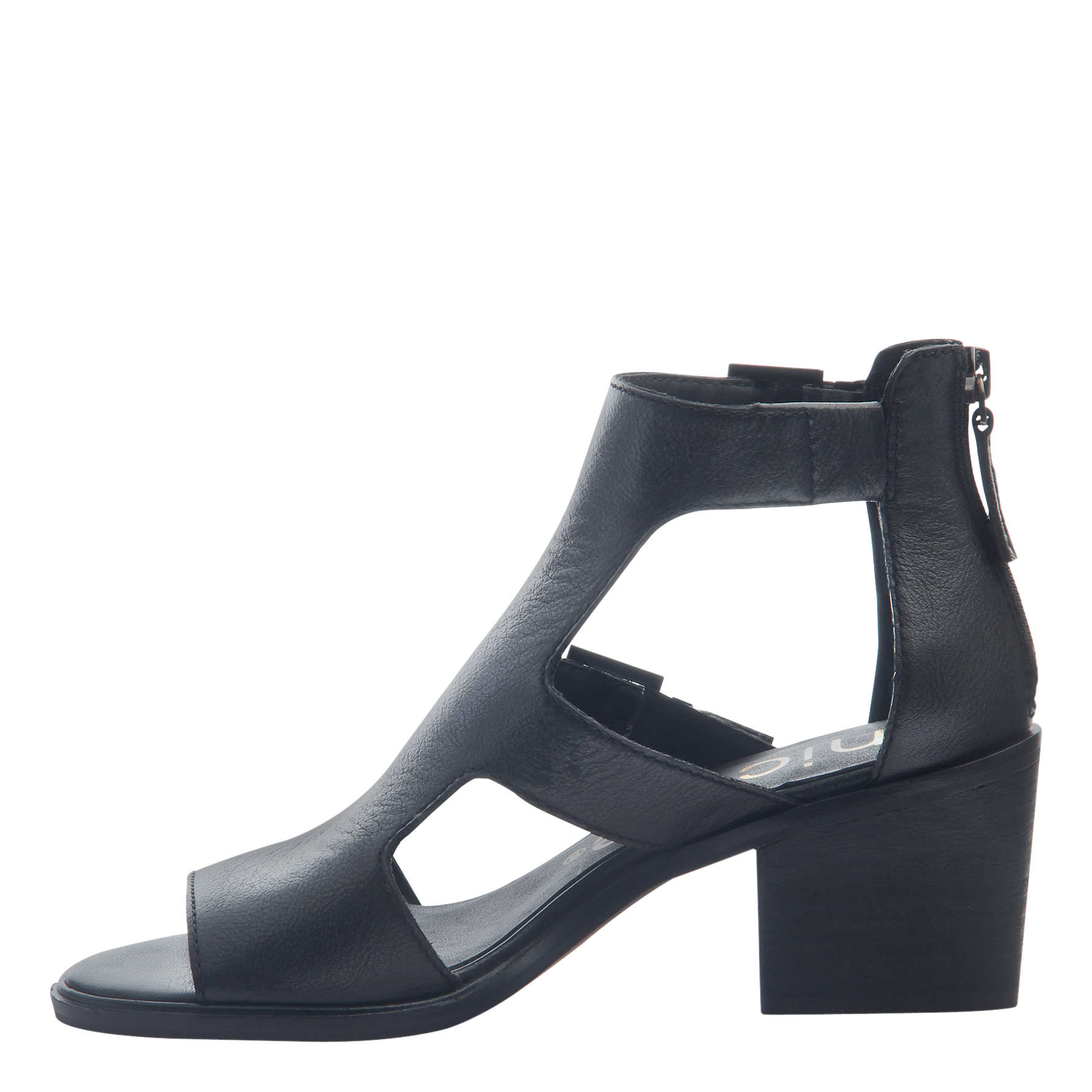 Womens heeled sandals Jahida in black inside view