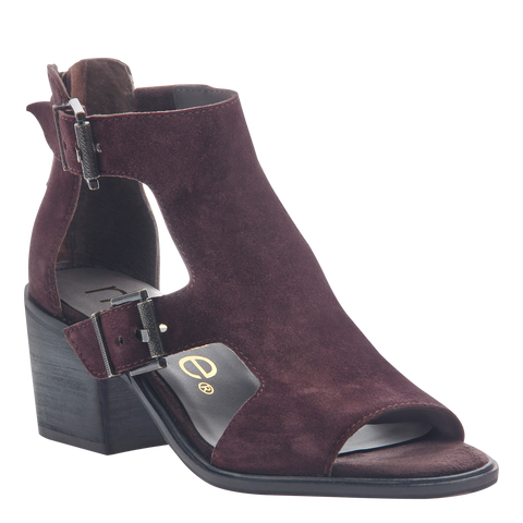 Womens heeled sandals Jahida in burgundy