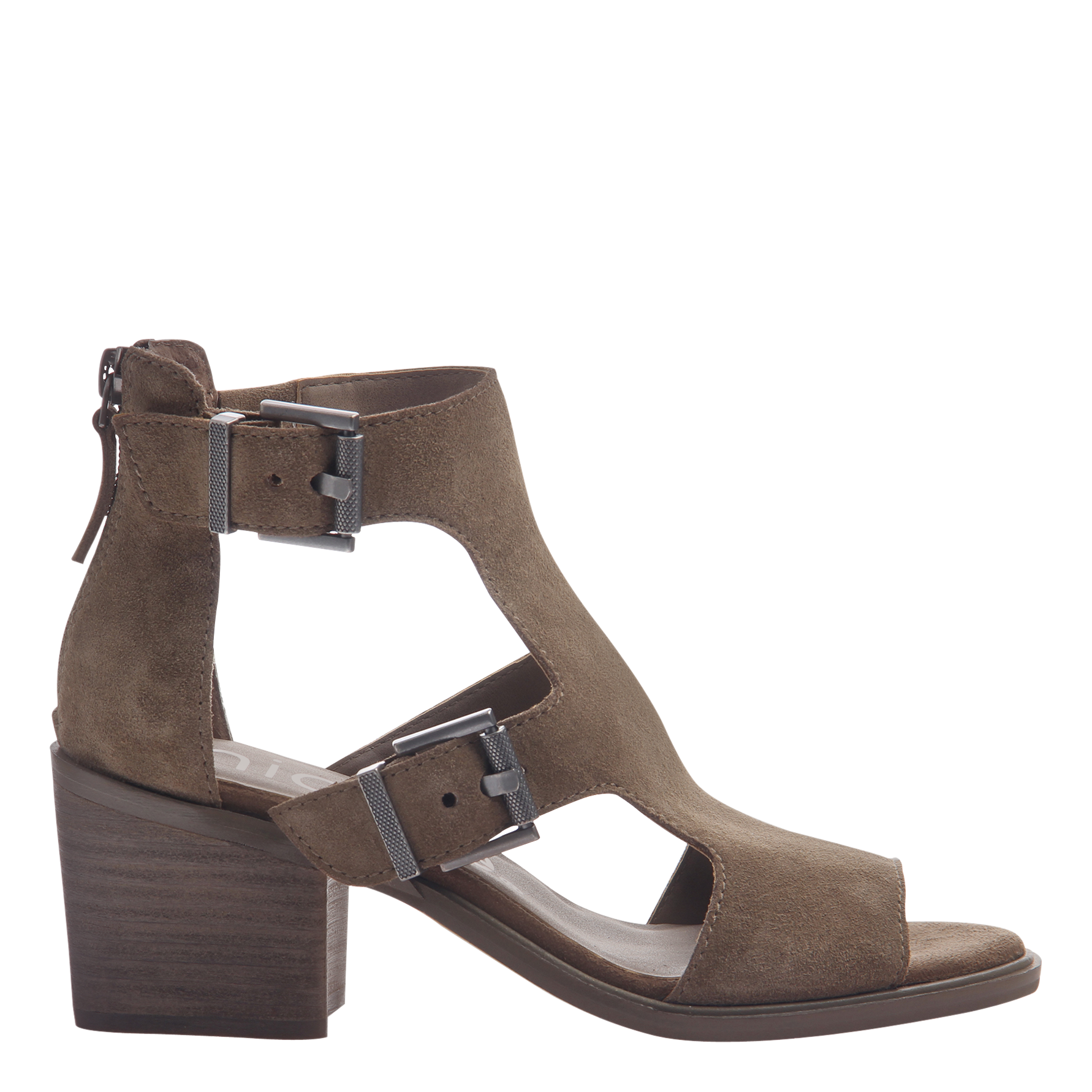 Womens heeled sandals Jahida in otter side view