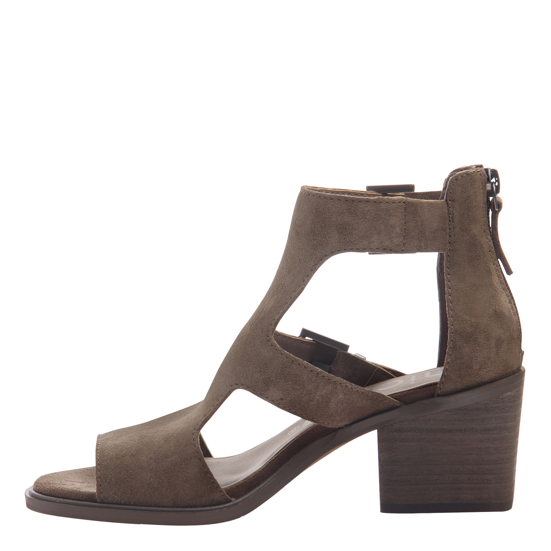 Womens heeled sandals Jahida in otter inside view
