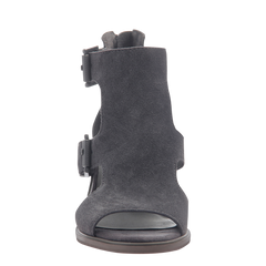 Womens heeled sandals in Jahida soft grey front view