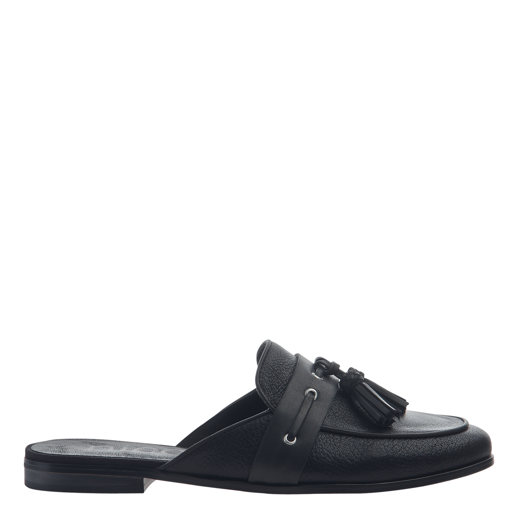 Womens slip on loafer Yulia in black side view