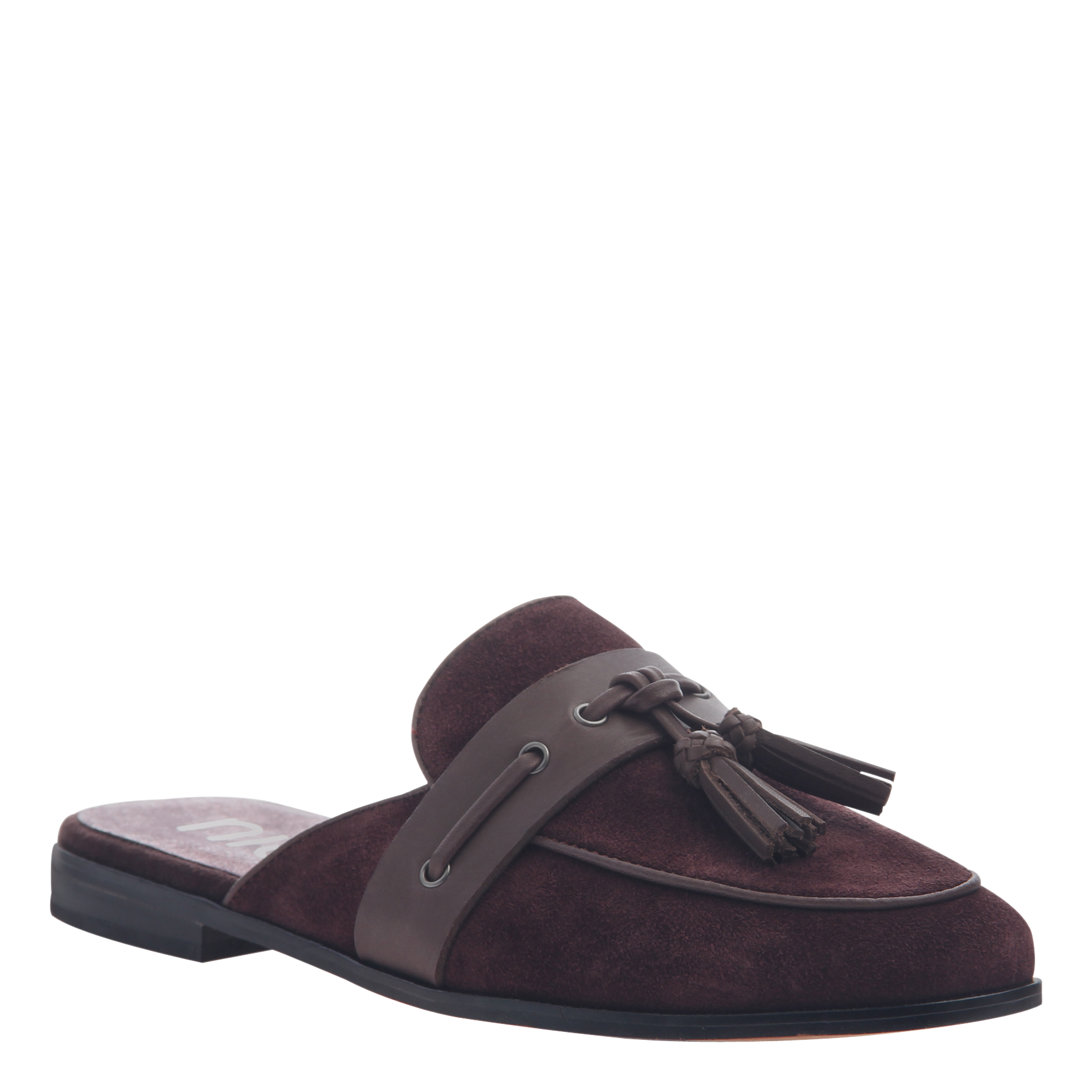 Womens slip on loafer Yulia in burgundy