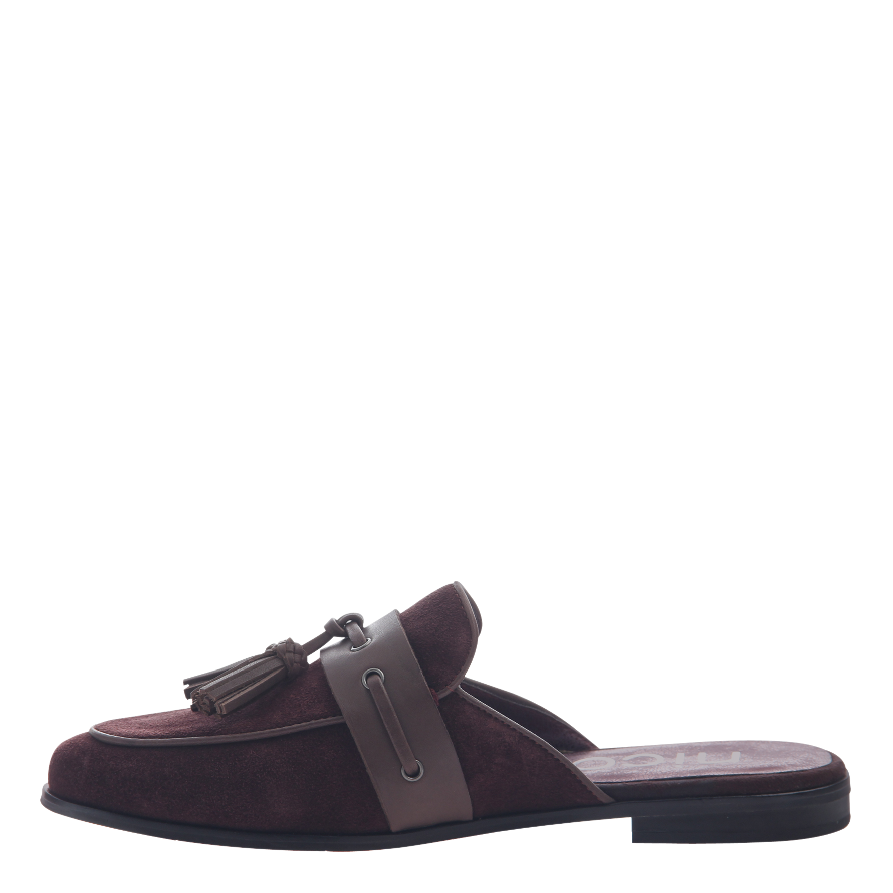 Womens slip on loafer Yulia in burgundy inside view