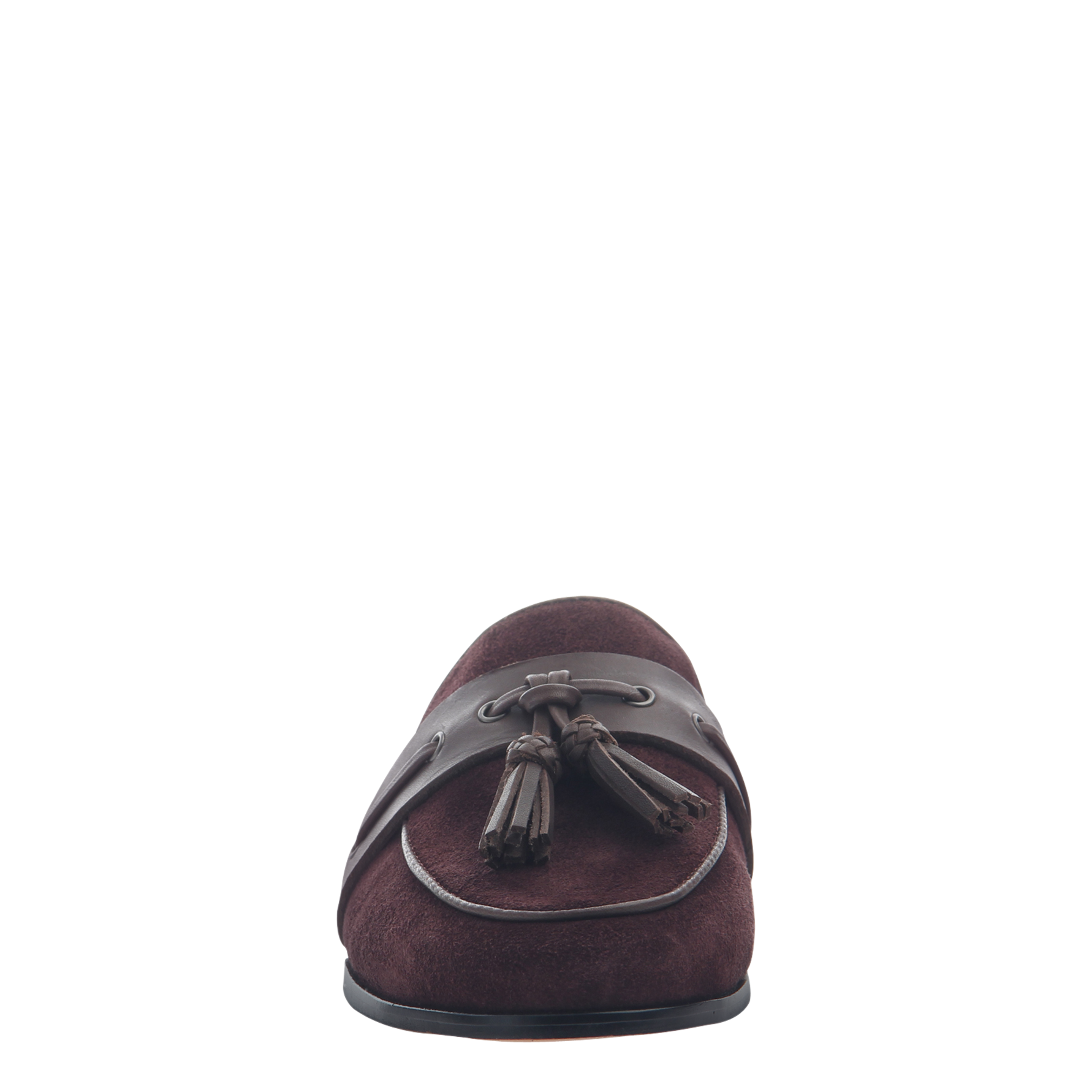Womens slip on loafer Yulia in burgundy front view