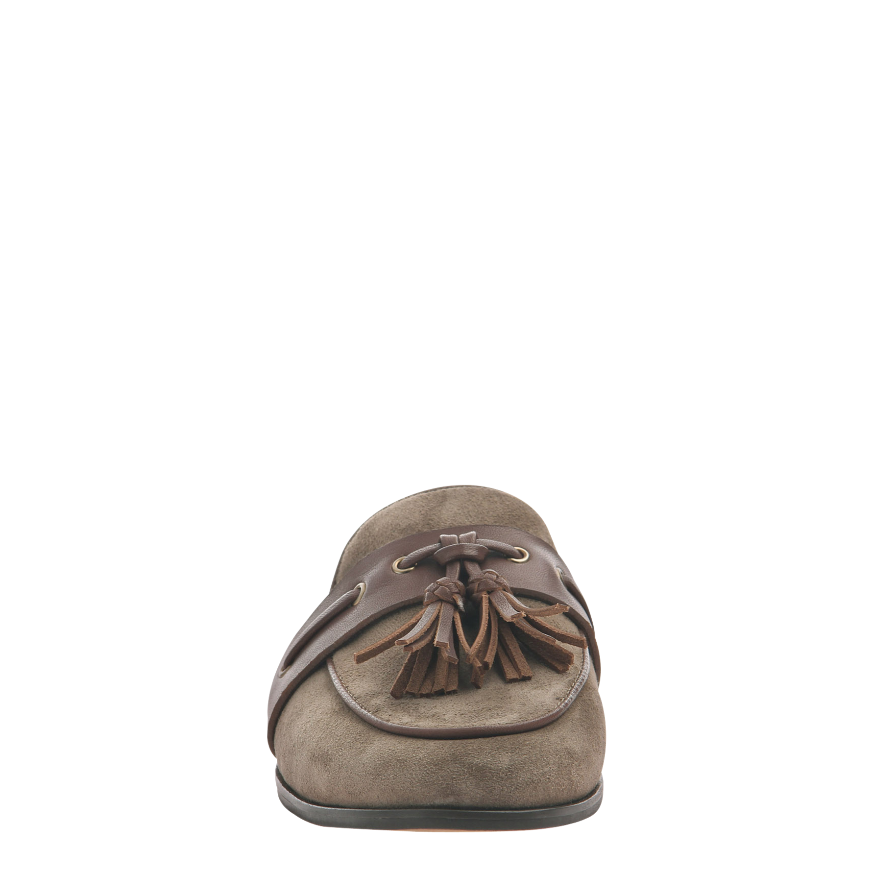 Womens slip on loafer Yulia in otter front view