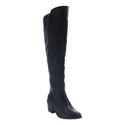 Womens tall over the knee boot Clooney in black