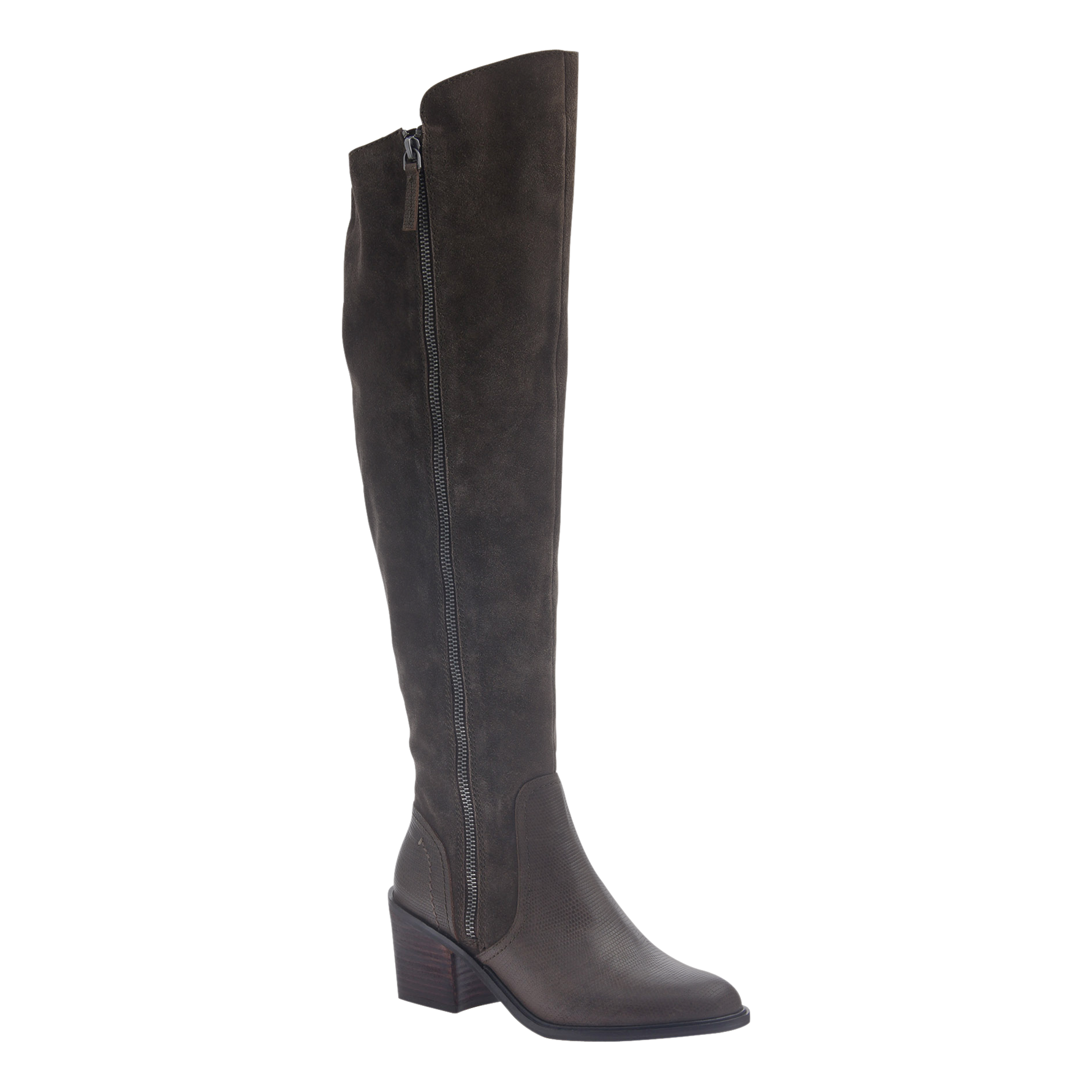 Womens tall over the knee boot Clooney in mint