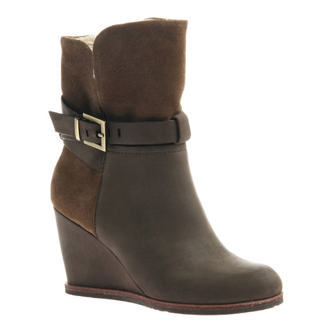 Nicole, Yasmina, Mint, Wedge Boot with fleece interior lining and side buckle