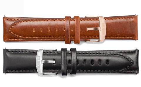 The Taylor comes with a 20 mm quick release genuine oil tan leather strap, in your choice of black or brown.