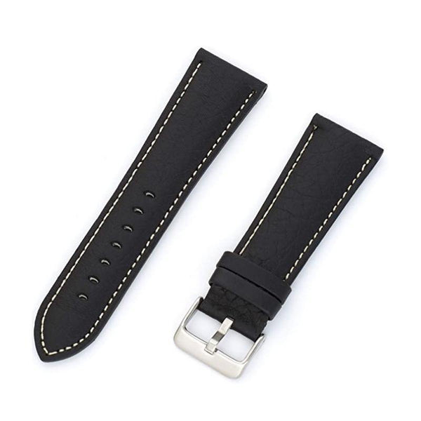 MS-791 - Hadley-Roma 22mm Shrunken Grain Leather Watch Band