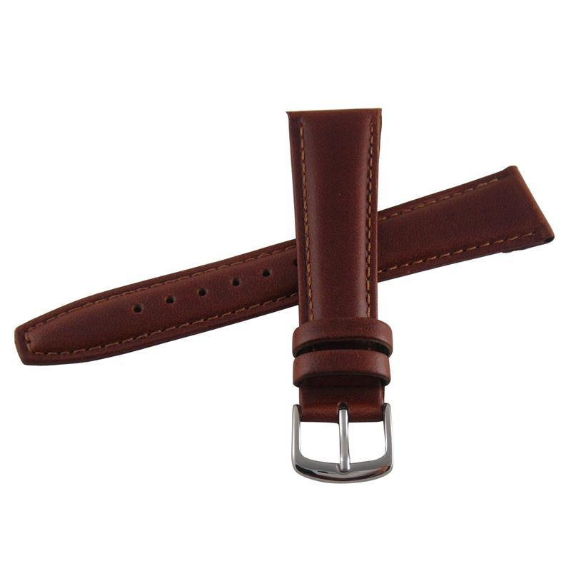 GENUINE OIL TANNED LEATHER WATCH STRAP