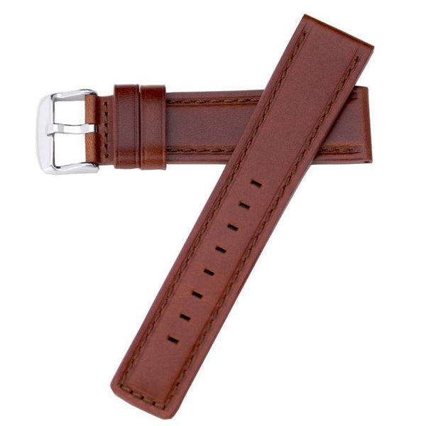 OIL-TAN WATERPROOF LEATHER WATCH BAND