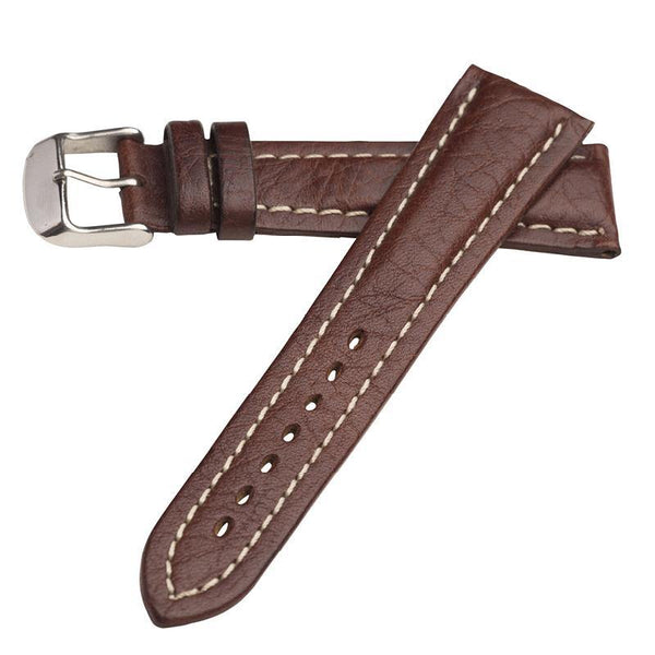 RAISED GENUINE CALFSKIN WATCH STRAP - BREITLING STYLE
