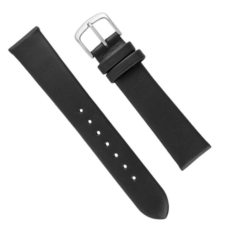 MS780 - Hadley-Roma 22 mm Black Genuine Oil Tan Leather Watch Strap