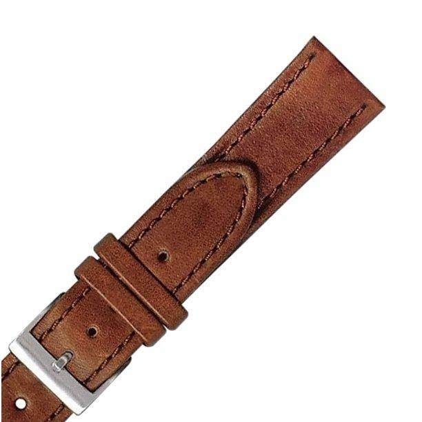 Stitched Genuine Leather Watch Strap