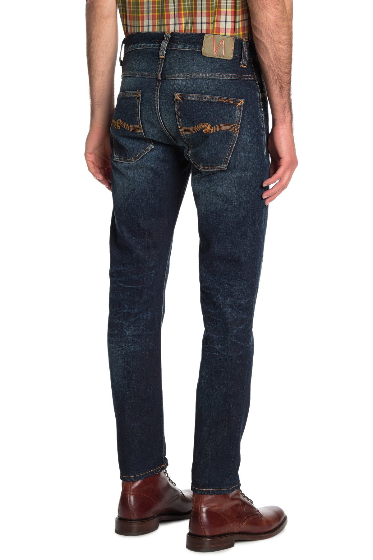 Nudie Jeans Slim fit Mens FEARLESS FREDDIE INDIGO SHADOW 112530