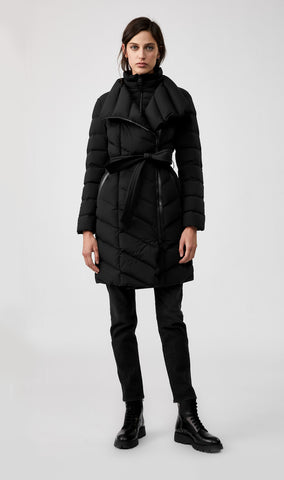MACKAGE ILENA DOWN WOMEN'S COAT W/ REMOVABLE BIB ILENA-BLACK