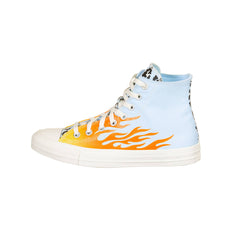 CONVERSE CHUCK TAYLOR ALL STAR ARCHIVAL LEOPARD AND FLAME PRINT HI UNISEX SNEAKERS 167927C