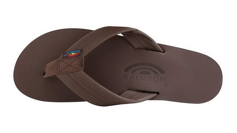 RAINBOW SANDALS SINGLE LAYER PREMIER LEATHER WITH ARCH SUPPORT  Womens SANDALS 301ALTS0-MOCH