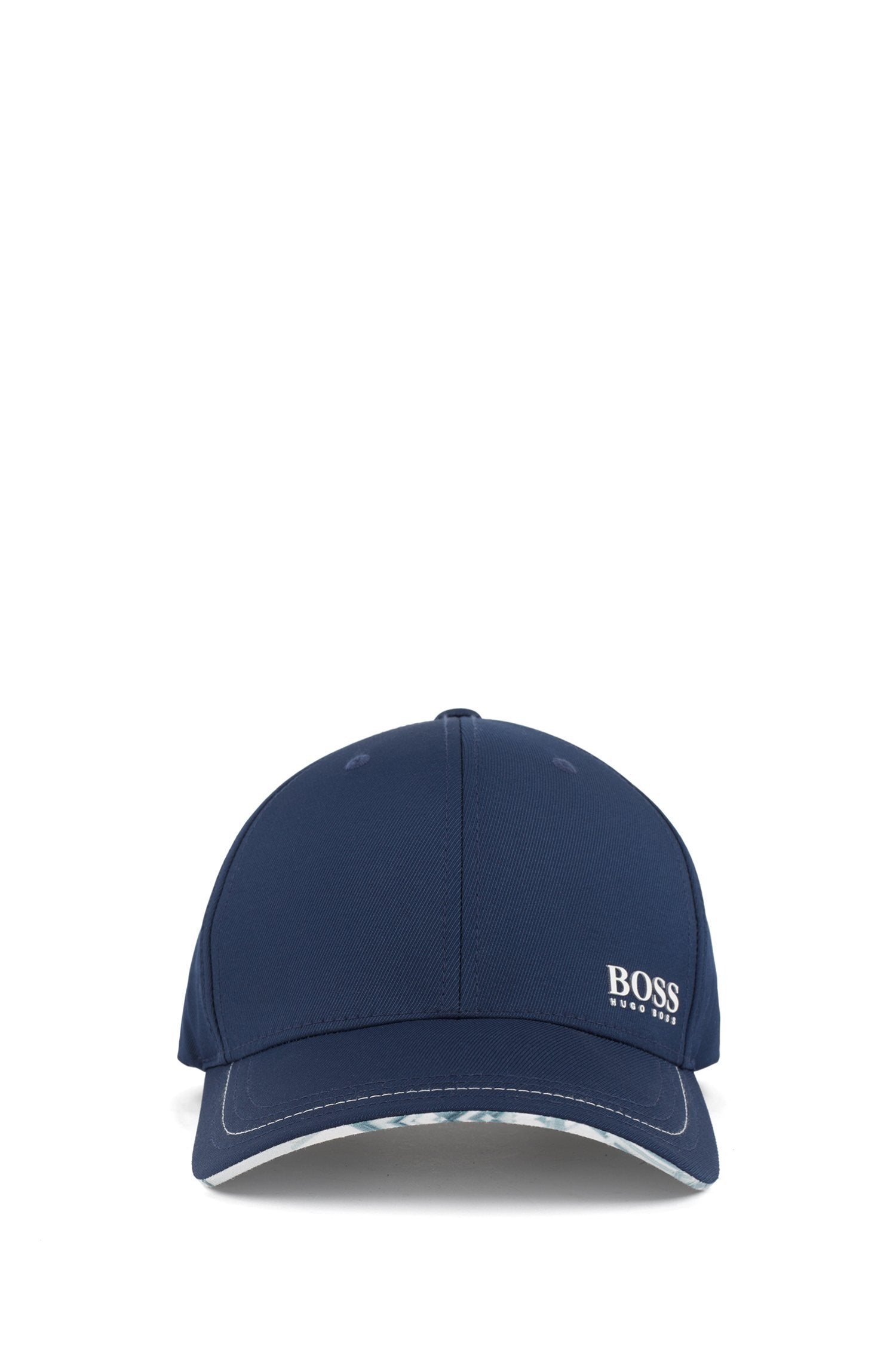 HUGO BOSS Lightweight cap in stretch twill with collection pattern 50410365-410