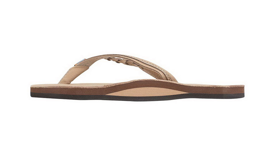 RAINBOW SANDALS FLIRTY BRAIDY - SINGLE LAYER PREMIER LEATHER WITH ARCH SUPPORT WITH A BRAIDED STRAP  Womens SANDALS 301ALTSB-SRBR