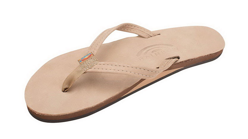 RAINBOW SANDALS SINGLE LAYER PREMIER LEATHER WITH ARCH SUPPORT AND A NARROW STRAP  Womens SANDALS 301ALTSN-SRBR