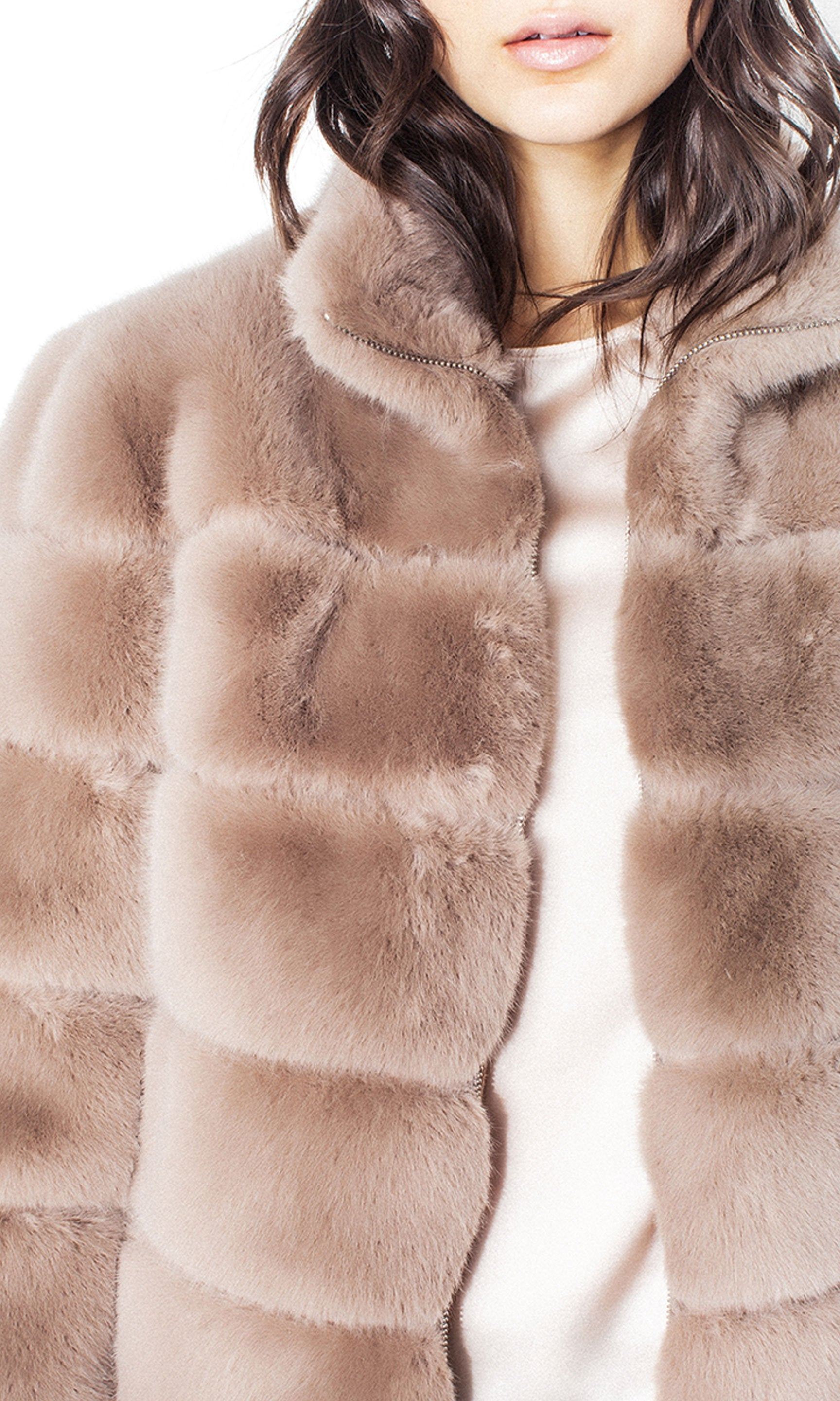 GENERATION LOVE PANALED FAUX FUR WOMEN'S BOMBER F19JodiFauxFurT