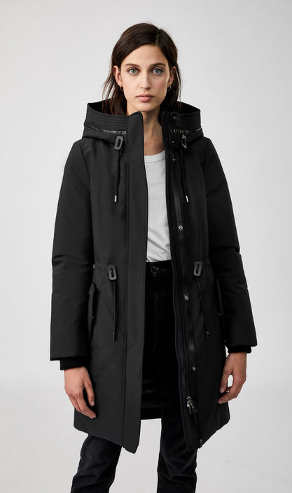 MACKAGE BECHKAH-R WOMEN'S DOWN PARKA W/ REMOVABLE RIBBED COLLAR BECKAH-R-Black