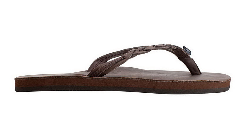 RAINBOW SANDALS FLIRTY BRAIDY - SINGLE LAYER PREMIER LEATHER WITH ARCH SUPPORT WITH A BRAIDED STRAP  Womens SANDALS 301ALTSB-MOCH