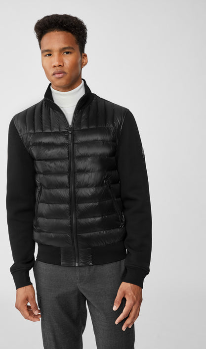MACKAGE COLLIN MEN'S BOMBER JACKET W/ QUILTED DOWN COLLIN-Black