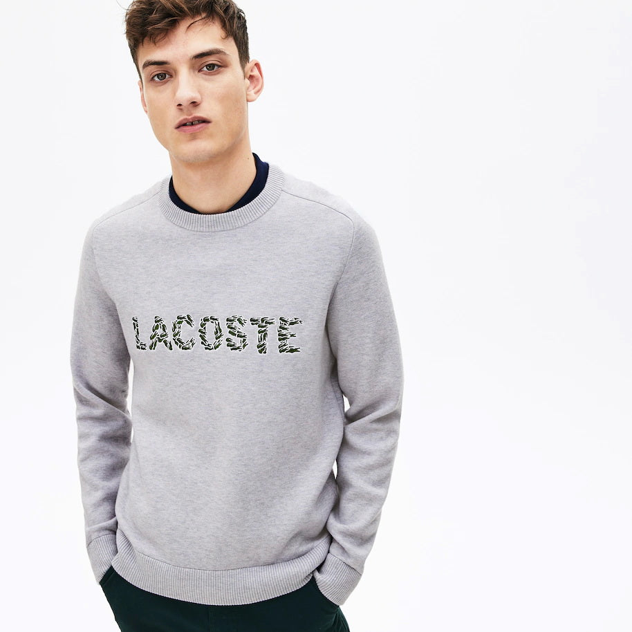 Lacoste Men's Crewneck Croco Magic Logo Fleece Sweatshirt SH8552-51-CCA