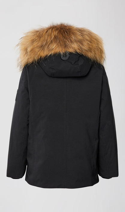 MACKAGE ED-TF KID'S DOWN COAT W/ REMOVABLE HOOD & NATURAL FUR TRIM ED-TF-Black