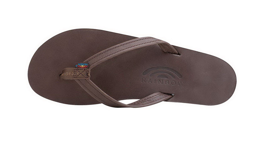RAINBOW SANDALS SINGLE LAYER PREMIER LEATHER WITH ARCH SUPPORT AND A NARROW STRAP  Womens SANDALS 301ALTSN-MOCH