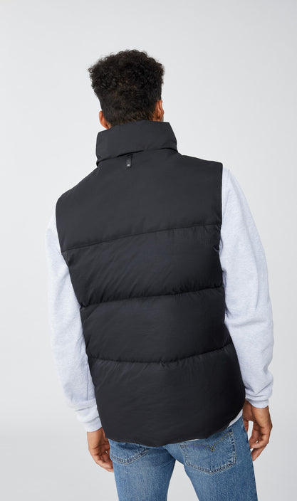 MACKAGE KAI MEN'S DOWN VEST W/ REMOVABLE HOOD KAI-Black
