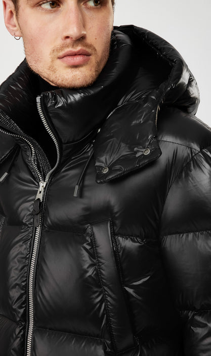 MACKAGE KENDRICK MEN'S DOWN PUFFER JACKET W/ REMOVABLE HOOD KENDRICK-Black