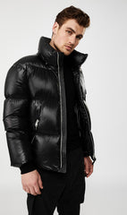 MACKAGE KENT MEN'S DOWN COAT W/ DETACHABLE HOOD KENT-Black