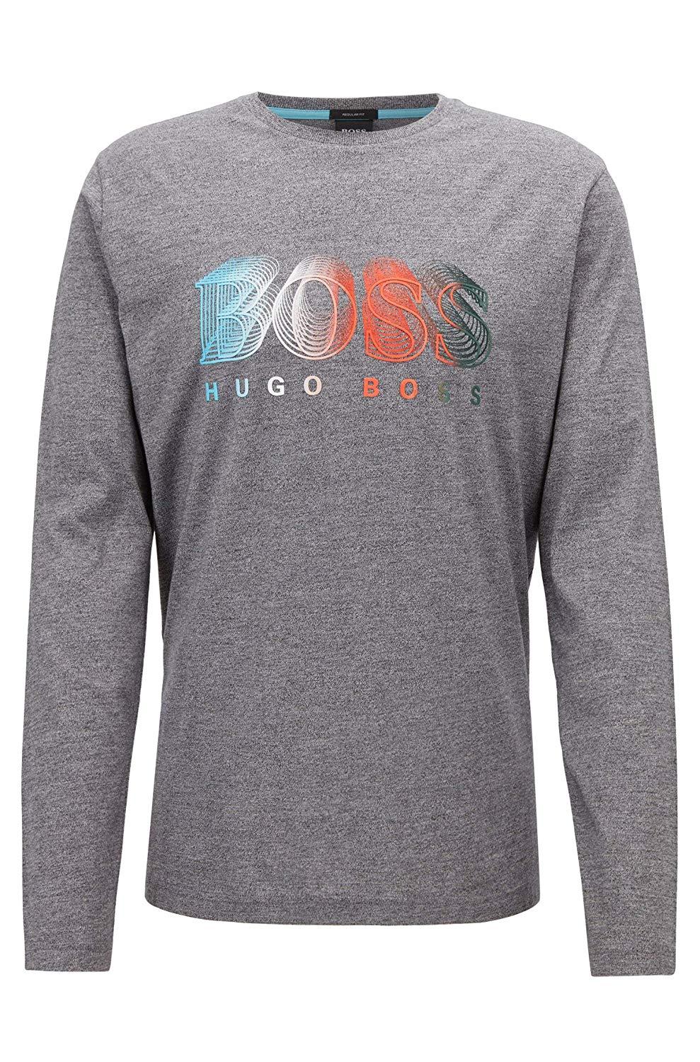 HUGO BOSS LONG-SLEEVED MEN'S T-SHIRT WITH MULTI-COLOURED LOGO GRAPHIC 50399931-005