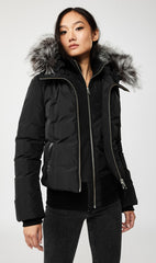 MACKAGE ROMANE DOWN WOMEN'S JACKET W/ REMOVABLE SILVERFOX FUR ROMANE-XR-BL/SIL