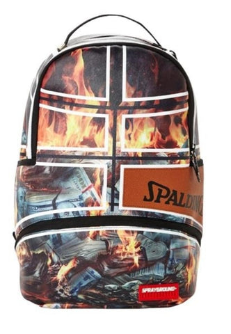 Sprayground Spalding fire money backpack 910B1859NSZ
